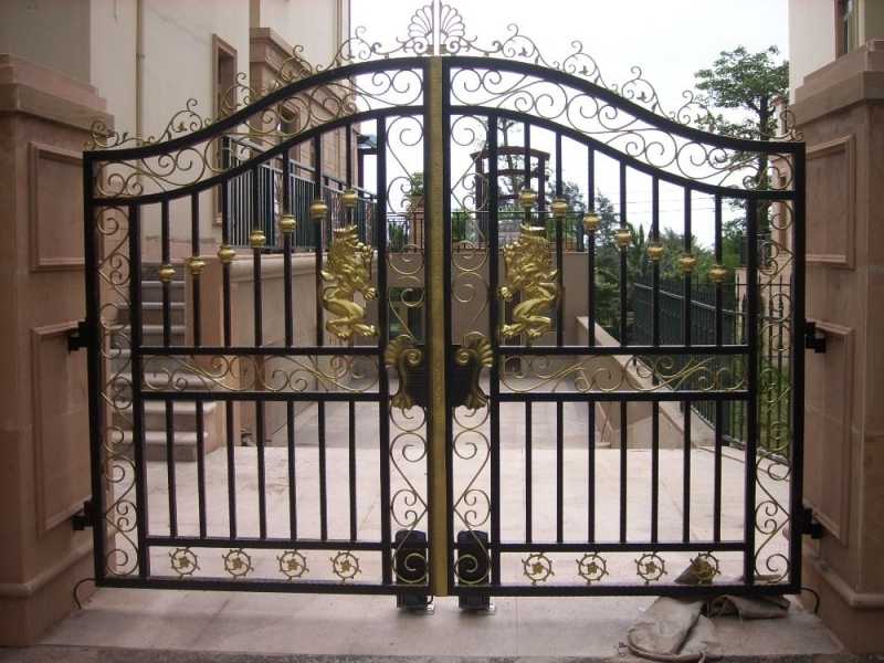 Iron Grill Main Gate Main Gate Grill Basic Wood Gate Design